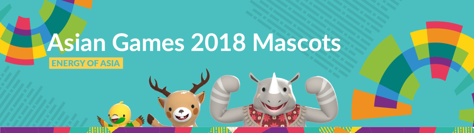 Mascots for Asian Games 2018.