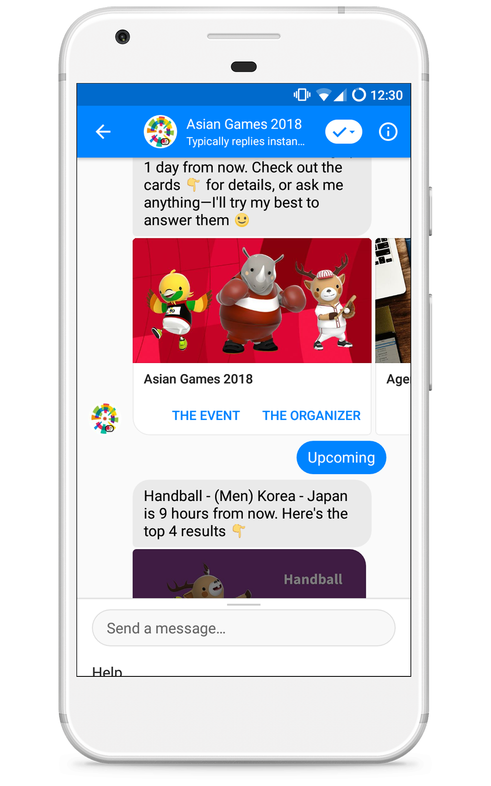 Chatbot for events.